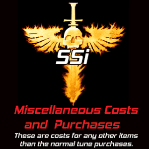 SSi Miscellaneous Purchases & Costs.